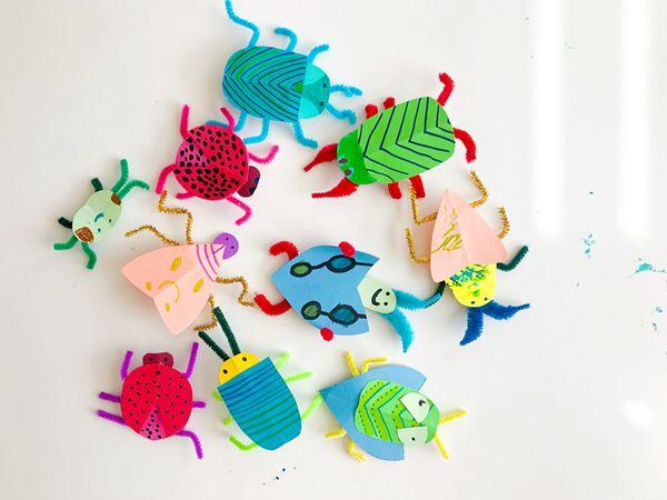 DIY Paper Bug Kid Craft - Easy Paper Crafts for Kids