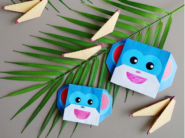 Easy Origami Monkey - Easy Paper Crafts for Kids