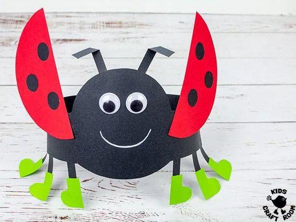 Ladybug Hats - Easy Paper Crafts for Kids