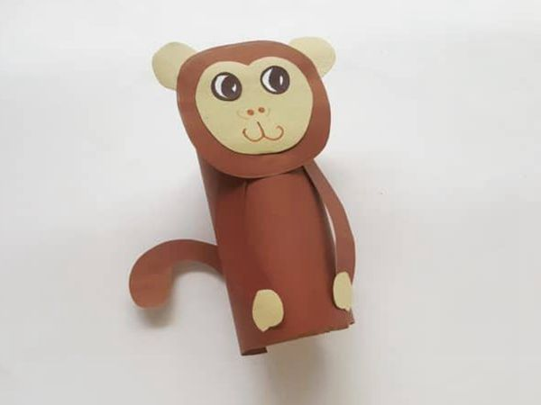 Monkey Paper Tube Craft - Easy Paper Crafts for Kids