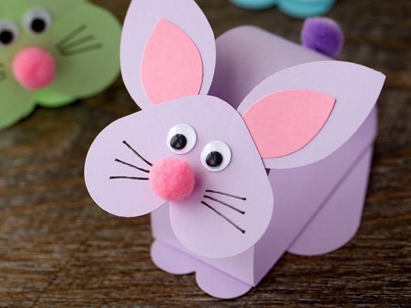 Paper Bobble Head Bunny - Easy Paper Crafts for Kids