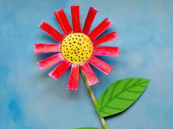 Paper Cup Flower Craft - Easy Paper Crafts for Kids