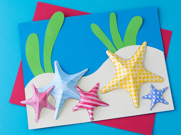 Starfish Texture Art - Easy Paper Crafts for Kids