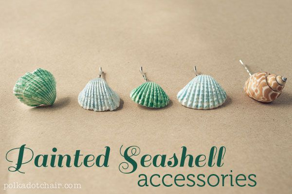 Painted Seashell Accessories - Easy Seashell Crafts for Kids
