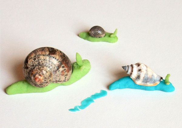 Playdough Shell Animals - Easy Seashell Crafts for Kids