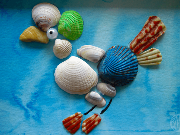 Seashell Art - Easy Seashell Crafts for Kids