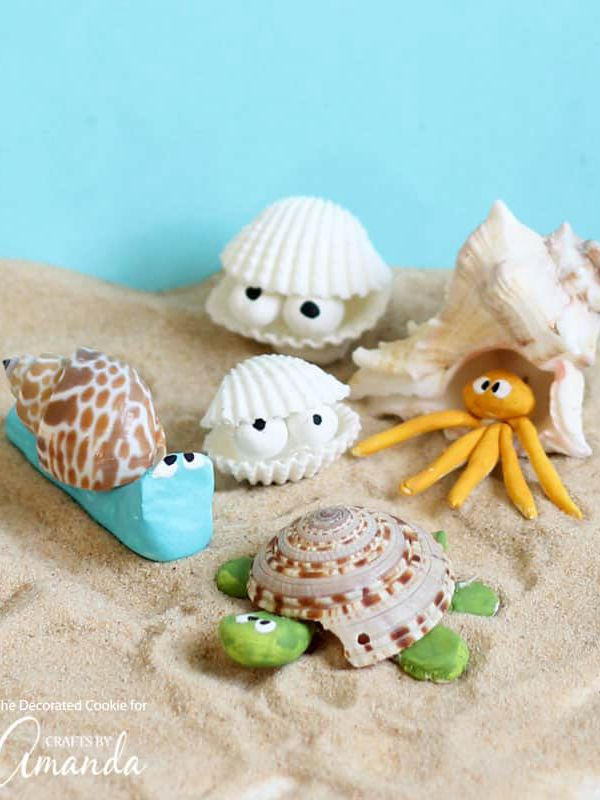Seashell Creatures - Easy Seashell Crafts for Kids