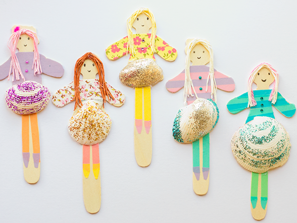 Shell People - Easy Seashell Crafts for Kids