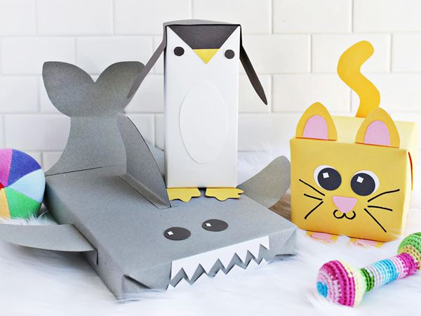 Animal Wrapping Paper - Easy Paper Crafts for Kids
