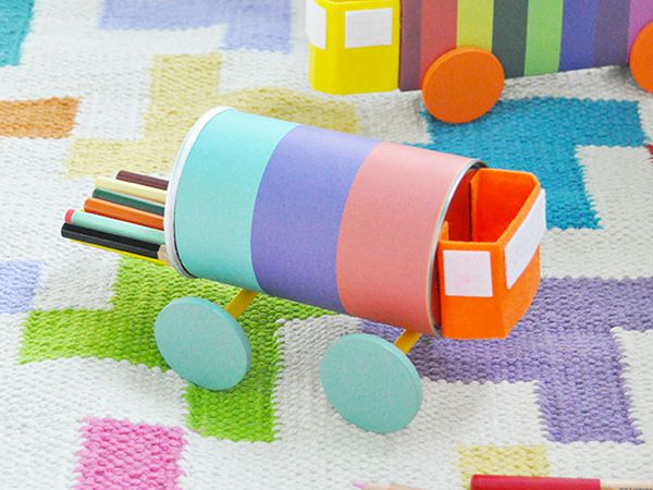 DIY Recycled Toy Trucks - Easy Paper Crafts for Kids