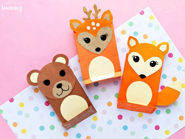 Paper Bag Fox Craft - Easy Paper Crafts for Kids