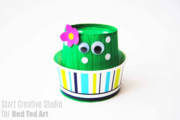 Paper Cup Cactus Craft - Easy Paper Crafts for Kids