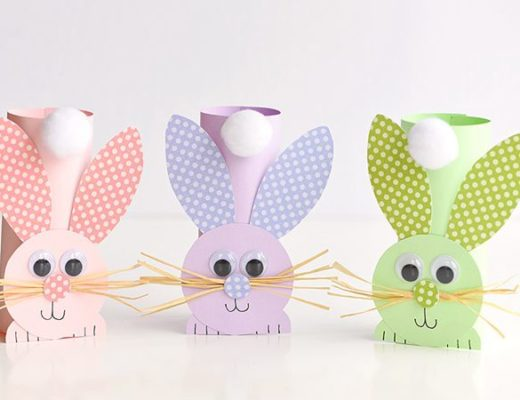 Paper Roll Bunnies - Easy Paper Crafts for Kids