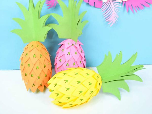 Pineapple Party Decorations - Easy Paper Crafts for Kids