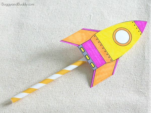 Straw Rockets - Easy Paper Crafts for Kids