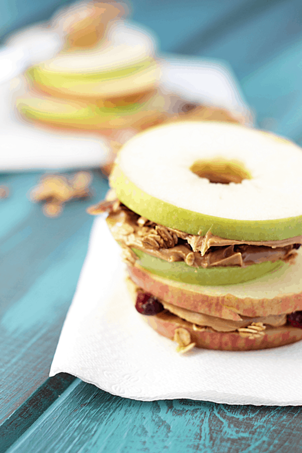 Apple Peanut Butter Granola Sandwiches - Snack Recipes for Kids