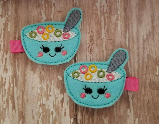 Breakfast Cereal Hair Clips - Cute Hair Clip for Kids