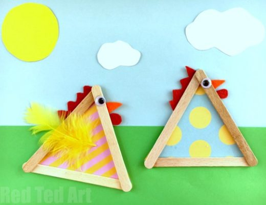 Craft Stick Chicks Easy Popsicle Crafts for Kids