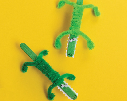 Craft Stick Crocodile Craft - Easy Popsicle Crafts for Kids