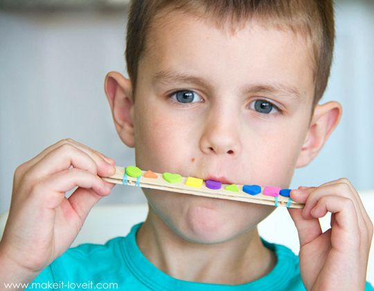 Craft Stick Harmonicas - Easy Popsicle Crafts for Kids