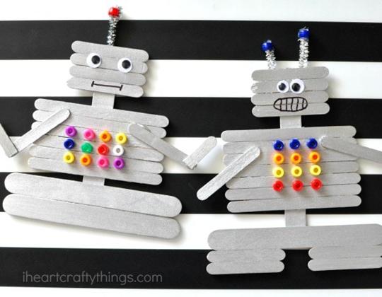 Craft Stick Robot - Easy Popsicle Crafts for Kids