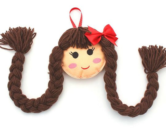 Doll Face Hair Clip Holder - Cute Hair Clip for Kids