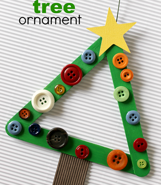 Easy Christmas Tree Ornament - Easy Popsicle Crafts for Kids