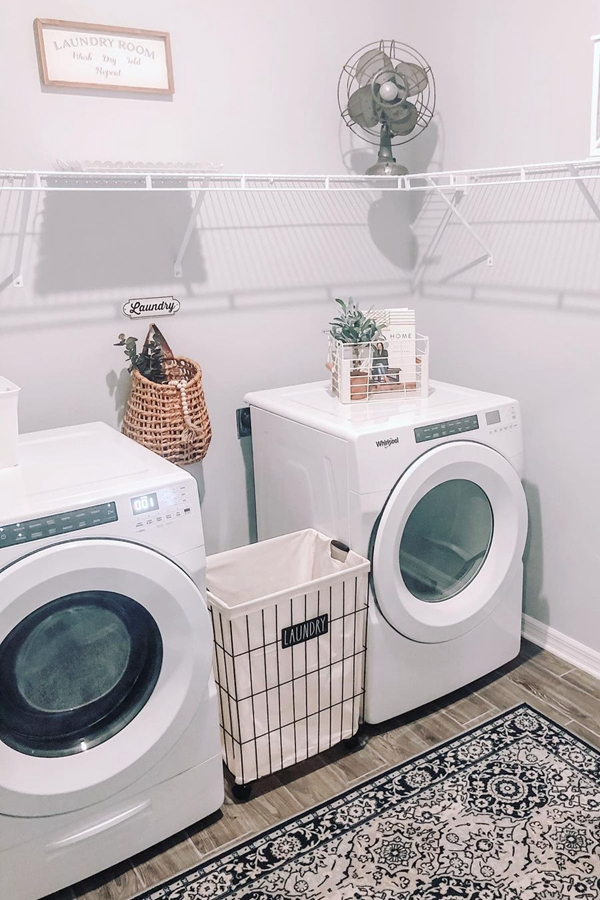 Easy Wire Laundry Shelves - Clever Laundry Room Shelving Ideas fo Small Space