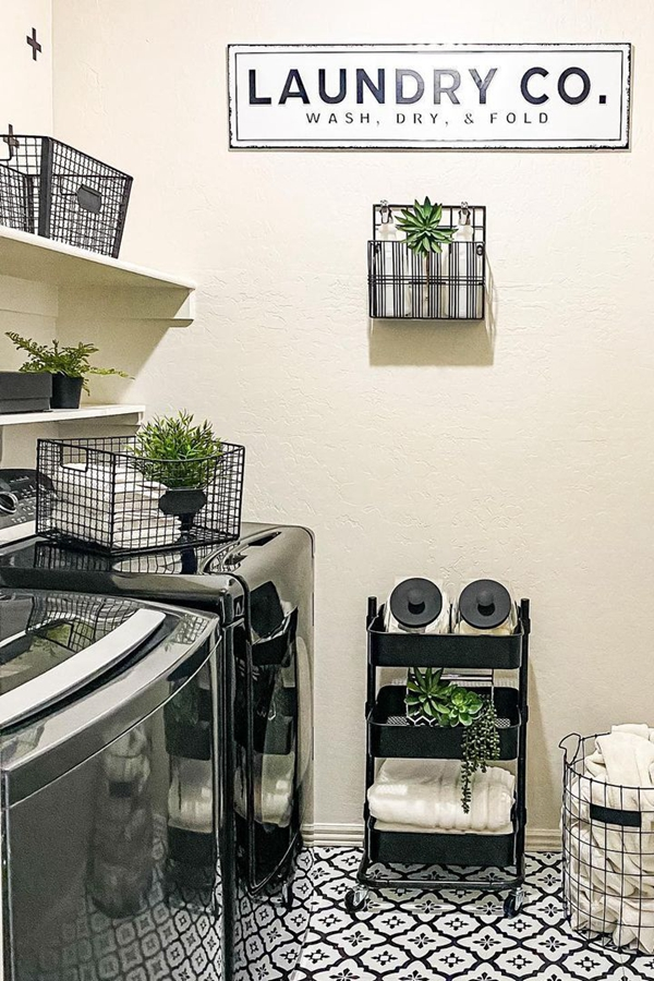 Farmhouse Laundry Room Shelving - Clever Laundry Room Shelving Ideas fo Small Space
