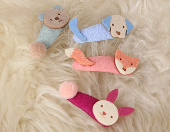 Felt Animal Hair Clip - Cute Hair Clip for Kids