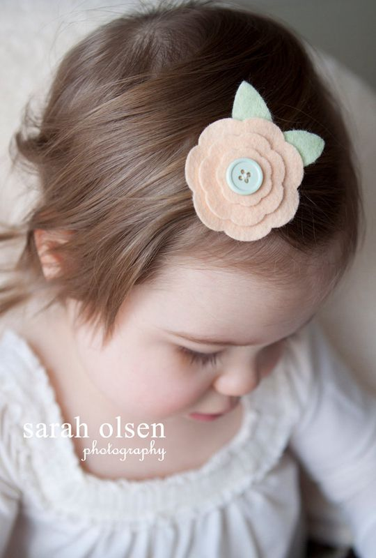 Felt Flower Daisy Hair Clip - Cute Hair Clip for Kids