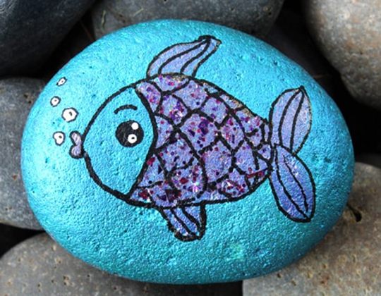 Fish Painted Rocks - Easy Popsicle Crafts for Kids