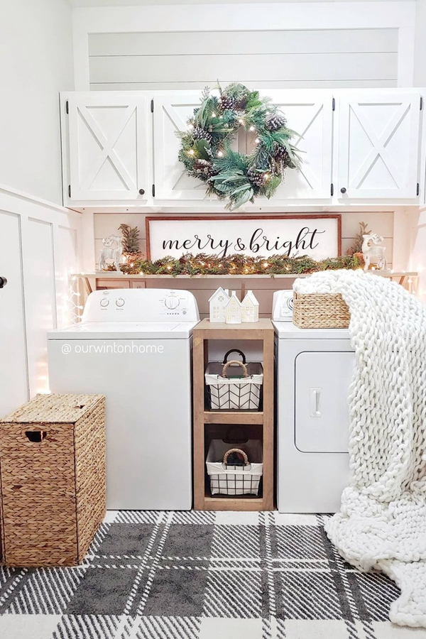 Merry and Bright Laundry Room Shelves - Clever Laundry Room Shelving Ideas fo Small Space