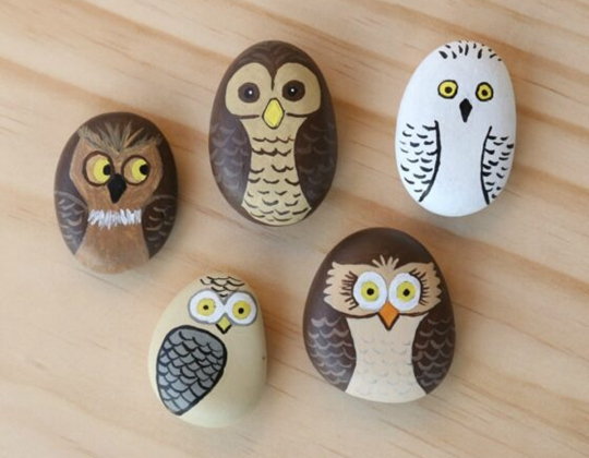 Owl Painted Rocks - Easy Popsicle Crafts for Kids