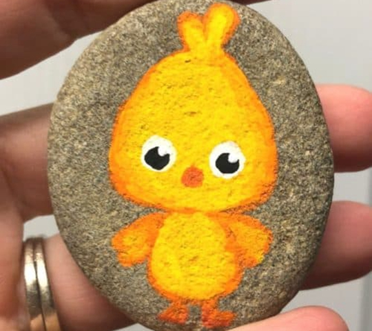 Painted Chick Easter Rocks - Easy Popsicle Crafts for Kids