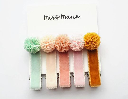 Pom Pom Hair Clip for Girls - Cute Hair Clip for Kids