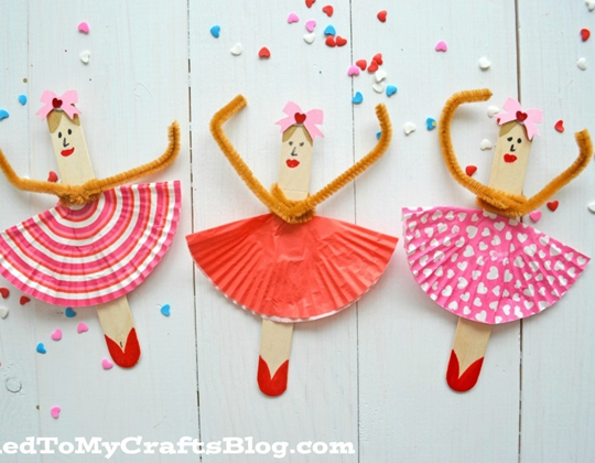 Popsicle Stick Ballerinas - Easy Popsicle Crafts for Kids