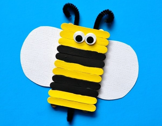 Popsicle Stick Bee Craft - Easy Popsicle Crafts for Kids