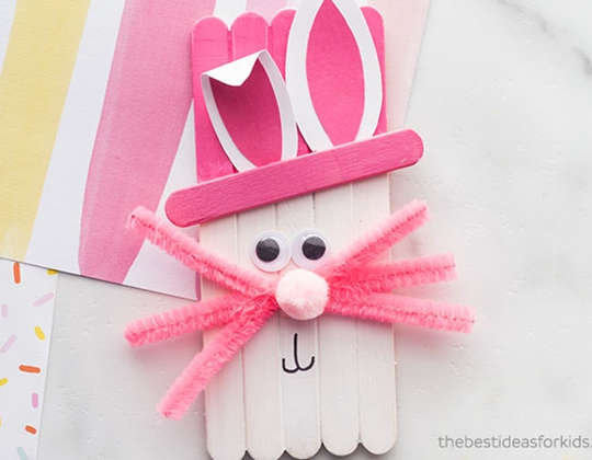 Popsicle Stick Easter Craft - Easy Popsicle Crafts for Kids