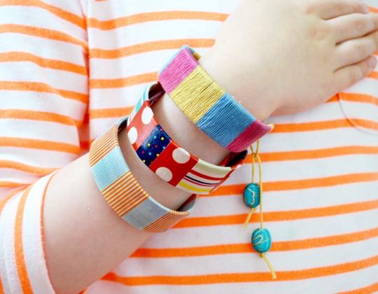Quick Craft Stick Bracelet - Easy Popsicle Crafts for Kids