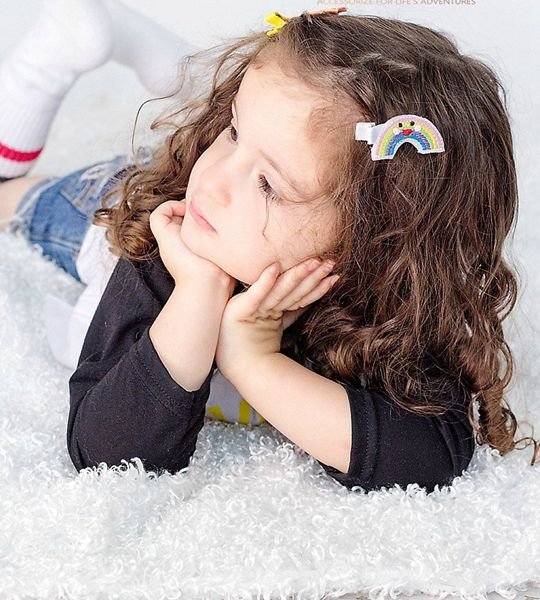 Rainbow Sun Cloud Moon Clip - Cute Hair Clip for Kids