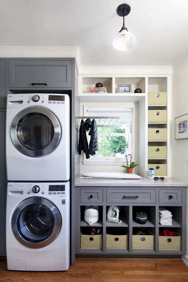 Small Laundry Room Design - Clever Laundry Room Shelving Ideas fo Small Space