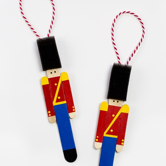 Toy Soldier Christmas Ornaments - Easy Popsicle Crafts for Kids