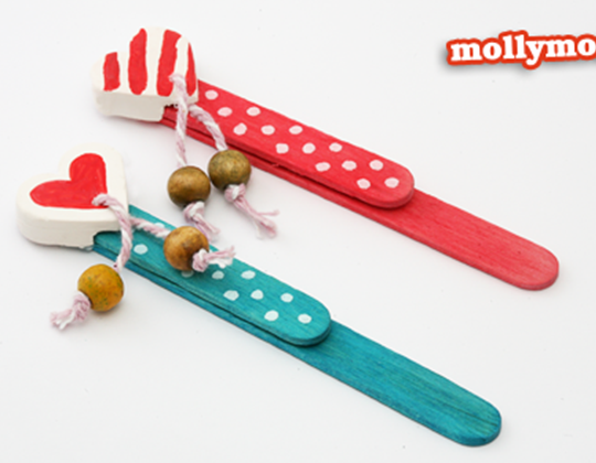 Valentine's Day Popsicle Bookmark Craft - Easy Popsicle Crafts for Kids