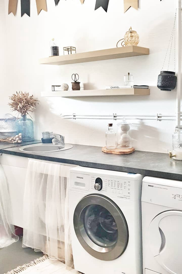 Wooden Laundry Room Shelving - Clever Laundry Room Shelving Ideas fo Small Space