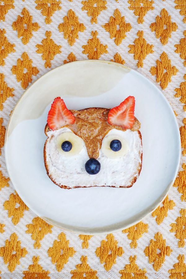 Woodland Fox Breakfast Toast - Snack Recipes for Kids