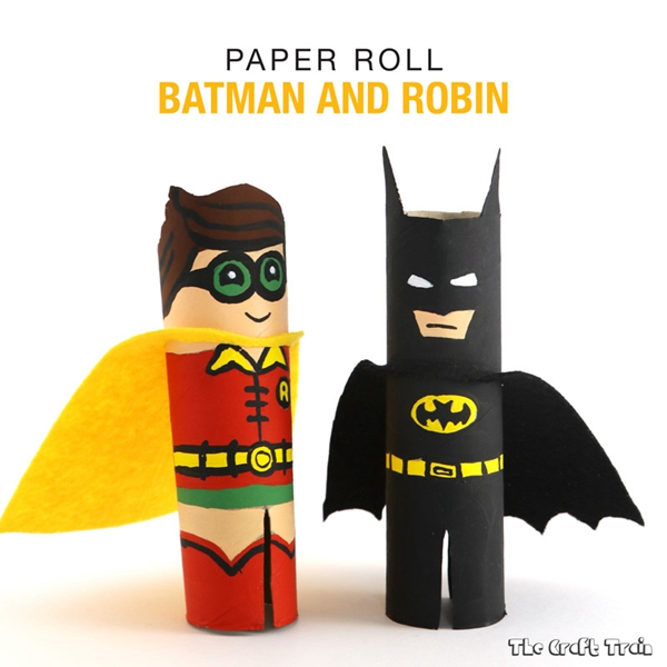 Batman and Robin Roll - Toilet Paper Roll Crafts
