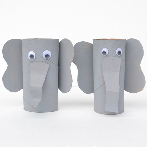 Cardboard Tube Elephant Craft - Toilet Paper Roll Crafts