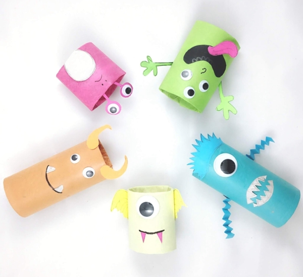 Cardboard Tube Monsters - Toilet Paper Roll Crafts
