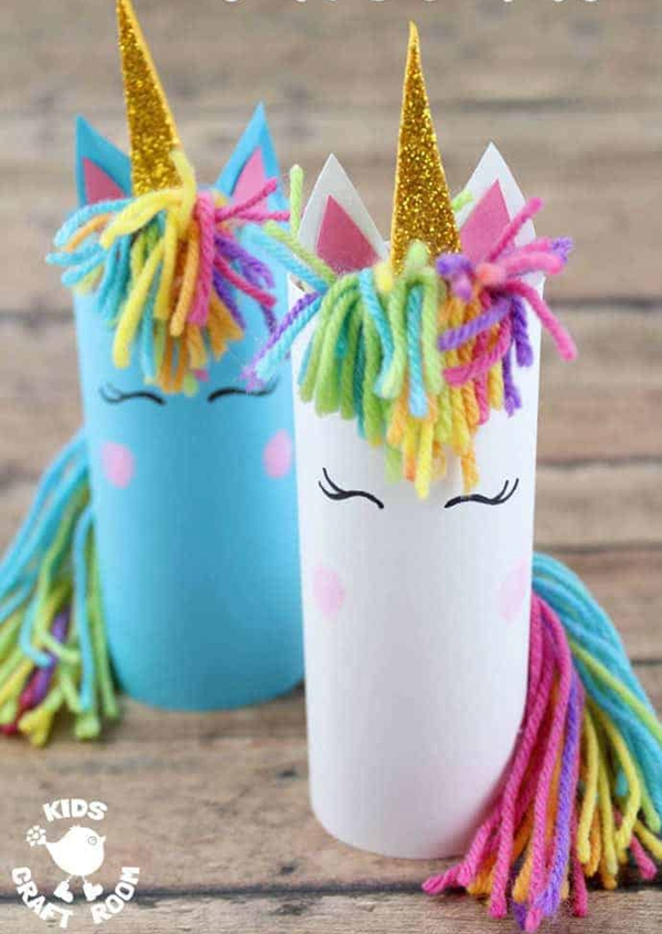 Cardboard Tube Unicorn Craft - Toilet Paper Roll Crafts